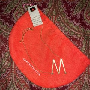 """Anthropologie """"M"""" necklace"""
